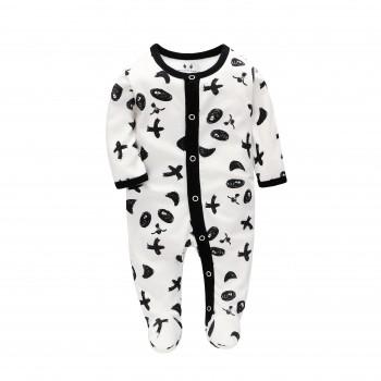 """Слип хлопковый для новорожденного """"Маленькая панда"""""""