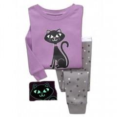 """Детская пижама светящаяся для девочки из 2 предметов """"Звездная кошечка"""""""