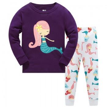 """Детская пижама для девочки из 2 предметов """"Прекрасная русалочка"""""""