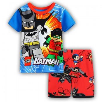 """Детская пижама для мальчика из 2 предметов """"Лего Бэтмен. Бэтмен и Робин"""""""