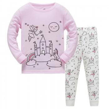 """Детская пижама для девочки из 2 предметов """"Волшебный замок"""""""