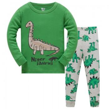 """Детская пижама для мальчика из 2 предметов """"Добрые динозавры"""""""