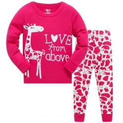 """Детская пижама для девочки из 2 предметов """"Влюбленная жирафа"""""""