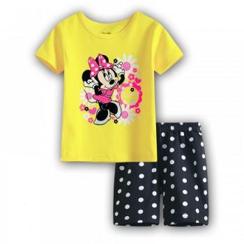 """Детская пижама для девочки из 2 предметов """"Минни Маус. Яркое лето"""""""