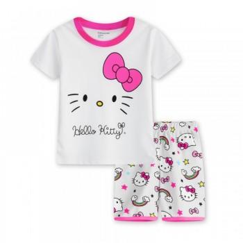"""Детская пижама для девочки из 2 предметов """"Хелло Китти. Радужное настроение"""""""