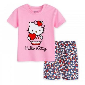 """Детская пижама для девочки из 2 предметов """"Хелло Китти. Маленькая валентинка - 3"""""""