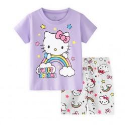 """Детская пижама для девочки из 2 предметов """"Хелло Китти. Радужные сны"""""""