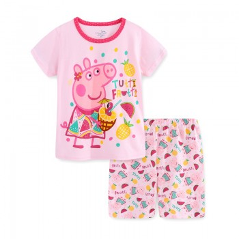 """Детская пижама для девочки из 2 предметов """"Свинка Пеппа. Фруктовый коктейль"""""""