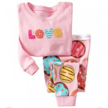 """Детская пижама для девочки из 2 предметов """"Сладкая любовь"""""""