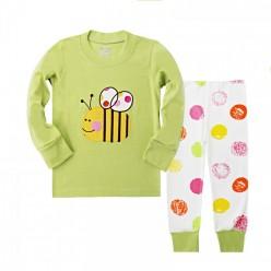 """Детская пижама для девочки из 2 предметов """"Веселая пчелка"""""""