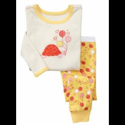 """Детская пижама для девочки из 2 предметов """"Черепашка на празднике"""""""