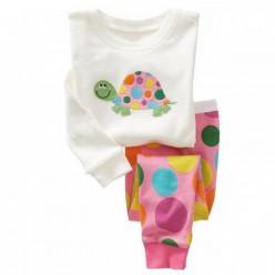 """Детская пижама для девочки из 2 предметов """"Веселая черепашка"""""""