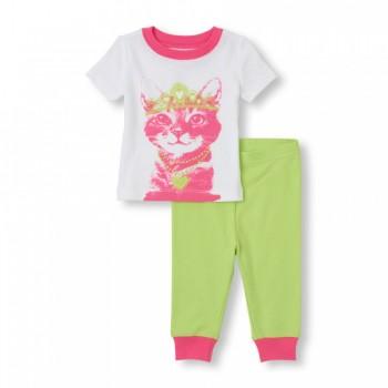 """Детская пижама для девочки из 2 предметов """"Кошечка принцесса"""""""