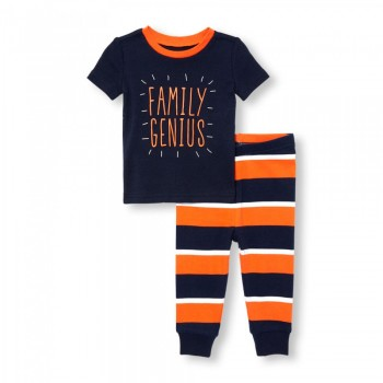 """Детская пижама для мальчика из 2 предметов """"Семейный гений"""""""