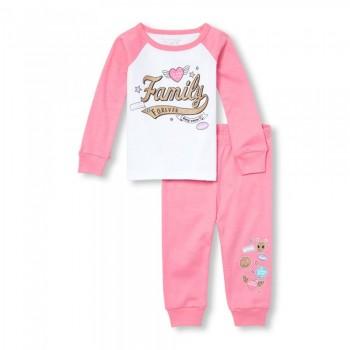 """Детская пижама для девочки из 2 предметов """"Любимая семья"""""""