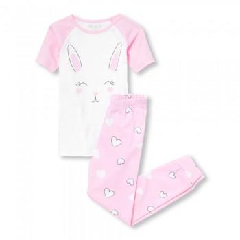 """Детская пижама для девочки из 2 предметов """"Зайка"""""""