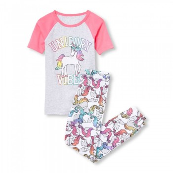 """Детская пижама для девочки из 2 предметов """"Вибрации единорога"""""""