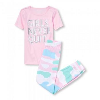 """Детская пижама для девочки из 2 предметов """"Девочки не уходят"""""""
