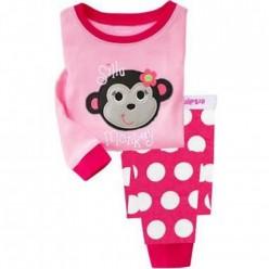 """Детская пижама для девочки из 2 предметов """"Озорная обезьянка"""""""
