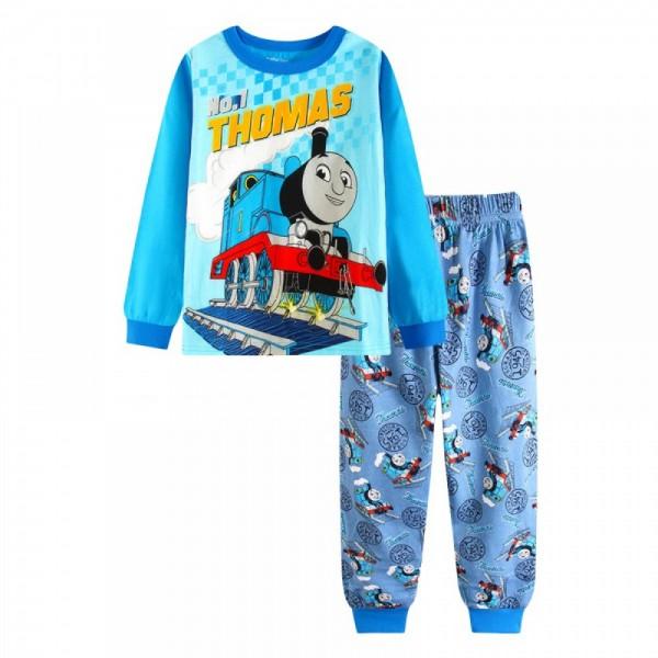 """Детская пижама для мальчика из 2 предметов """"Паровозик Томас. Номер 1"""""""
