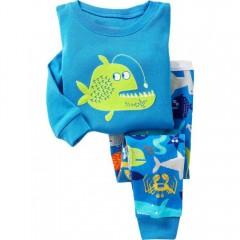 """Детская пижама для мальчика из 2 предметов """"Хищная рыба"""""""