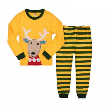"""Детская пижама для детей из 2 предметов """"Рождественский олененок"""""""