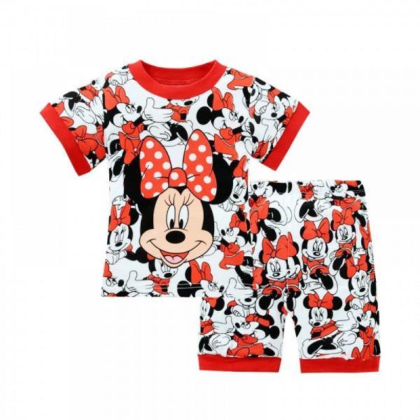 """Детская пижама для девочки из 2 предметов """"Минни Маус. Яркий день"""""""