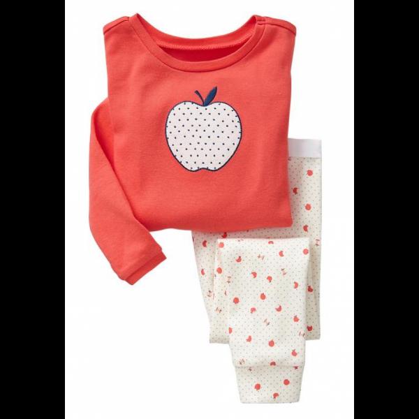 """Детская пижама для девочки из 2 предметов """"Белое яблочко"""""""