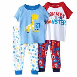 """Детская пижама для мальчика из 4 предметов """"Мамин маленький монстрик"""""""