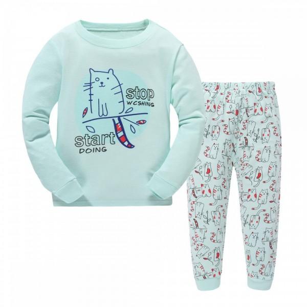 """Детская пижама для детей из 2 предметов """"Няшные котики"""""""