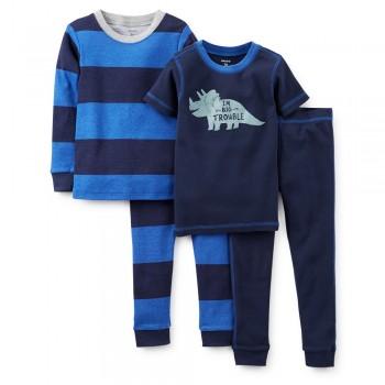 """Детская пижама для мальчика из 4 предметов """"Большой динозавр"""""""