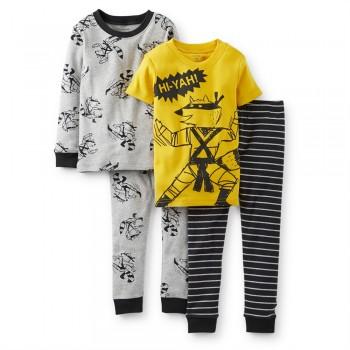 """Детская пижама для мальчика из 4 предметов """"Маленький ниндзя"""""""