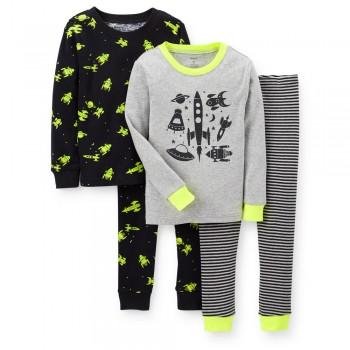 """Детская пижама для мальчика из 4 предметов """"Покорение космоса"""""""