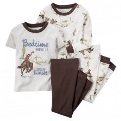 """Детская пижама для мальчика из 4 предметов """"Благородный ковбой"""""""