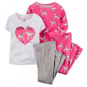 """Детская пижама для девочки из 4 предметов """"Мы одной породы"""""""