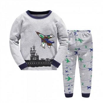 """Детская пижама для мальчика из 2 предметов """"Большой авианосец"""""""