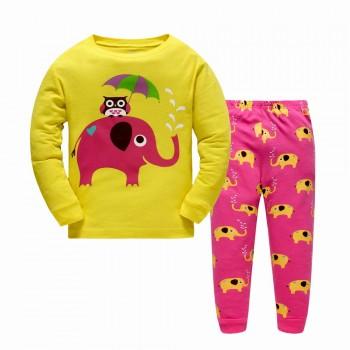 """Детская пижама для девочки из 2 предметов """"Забавный слоник"""""""