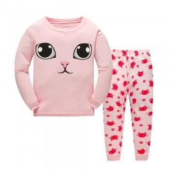 """Детская пижама для девочки из 2 предметов """"Милашка кошечка"""""""