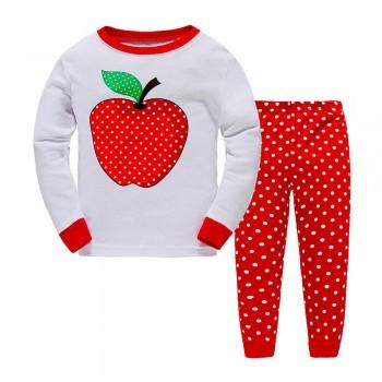 """Детская пижама для девочки из 2 предметов """"Красное яблочко"""""""