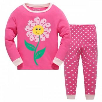 """Детская пижама для девочки из 2 предметов """"Мамин цветочек"""""""