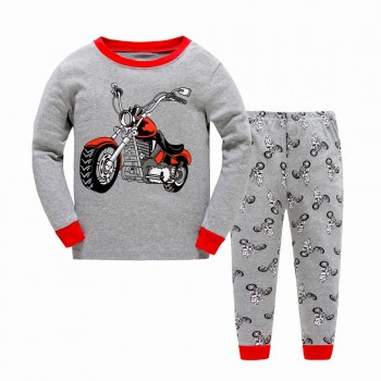 """Детская пижама для мальчика из 2 предметов """"Мощный мотоцикл"""""""
