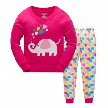 """Детская пижама для девочки из 2 предметов """"Веселый слоник"""""""