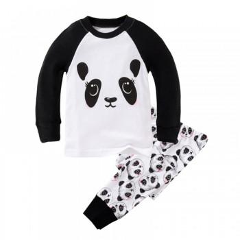 """Детская пижама для девочки из 2 предметов """"Милашка панда"""""""