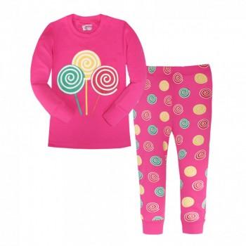"""Детская пижама для девочки из 2 предметов """"Сладкие конфеты"""""""