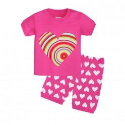 """Детская пижама для девочки из 2 предметов """"Радужное сердце"""""""