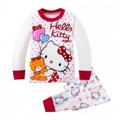 """Детская пижама для девочки из 2 предметов """"Хелло Китти. День рождения"""""""