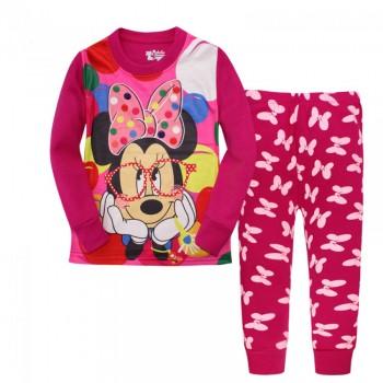 """Детская пижама для девочки из 2 предметов """"Минни Маус. Красивая и умная"""""""