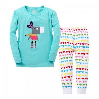 """Детская пижама для девочки из 2 предметов """"Мамина модница"""""""