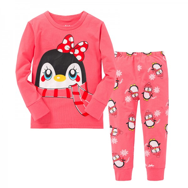 """Детская пижама для девочки из 2 предметов """"Милашки пингвинюшки"""""""