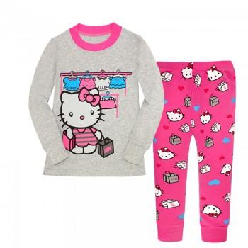 """Детская пижама для девочки из 2 предметов """"Хелло Китти. Модный шоппинг"""""""
